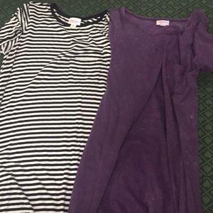 Lularoe Carly dress size xs lot of 2